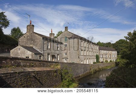 The mill at Airton village Yorkshire Dales National Park England.