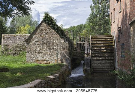 The Mill at Lower Slaughter Cotswolds Gloucestershire England.