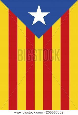 Estelada Blava Banner Flag Background Catalonia Independence