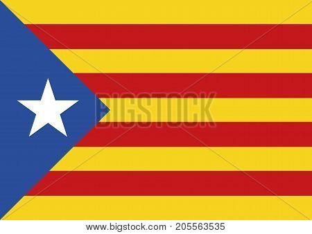Estelada Blava Flag Background Catalonia Referendum