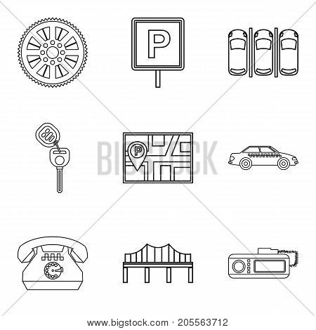 Orientation icons set. Outline set of 9 orientation vector icons for web isolated on white background