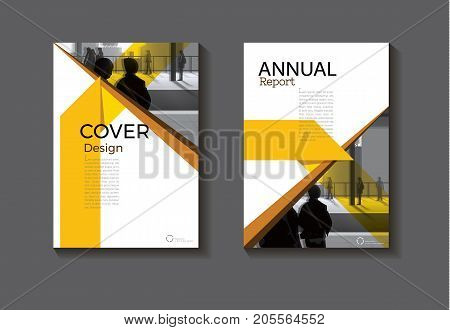 Yellow abstract cover design modern book cover abstract Brochure cover templateannual report magazine and flyer layout Vector a4