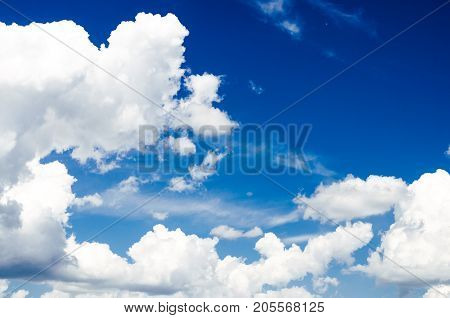 Blue sky with clouds. Сlouds in the air.