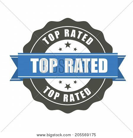 Top Rated badge - award or prize sticker