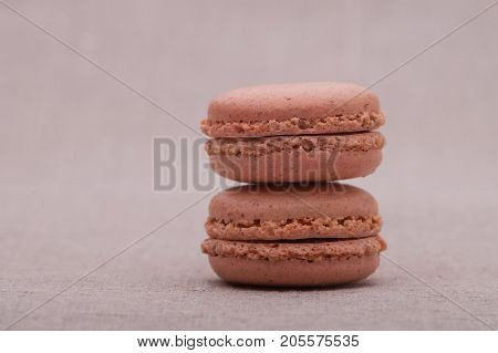 biscuits bright brown circular shape. biscuits on the other one
