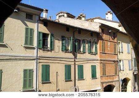 Brisighella (Ravenna Emilia Romagna Italy): the famous covered street known as via degli Asini or via del Borgo