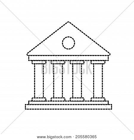 dotted shape bank to economy and financial account vector illustration