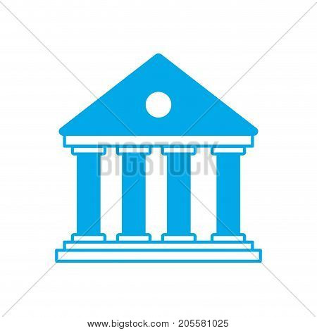 silhouette bank to economy and financial account vector illustration