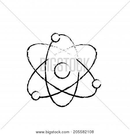 figure physics orbit chemistry science education vector illustration