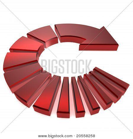 Red Circular Arrow