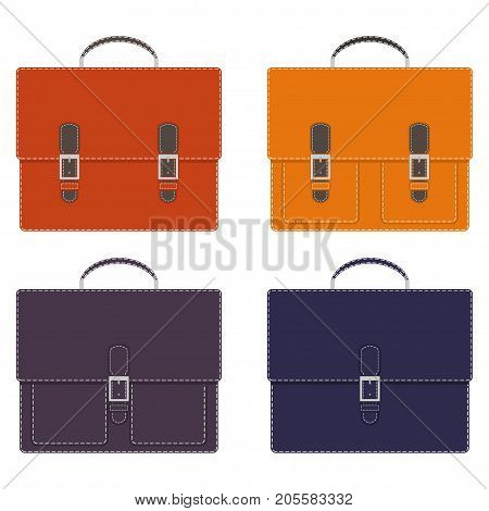 Collection Of Stylish Multi-colored Men's Leather Portfolios With Pockets And Without, With Buckles,
