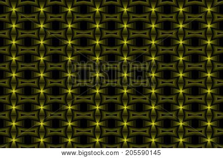 Cross - abstract vector pattern - yellow