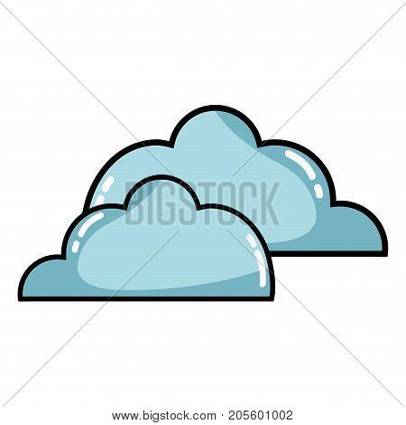 nice clouds natural weather design vector illustration
