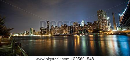 New York By Night - Midtown Of Manhattan