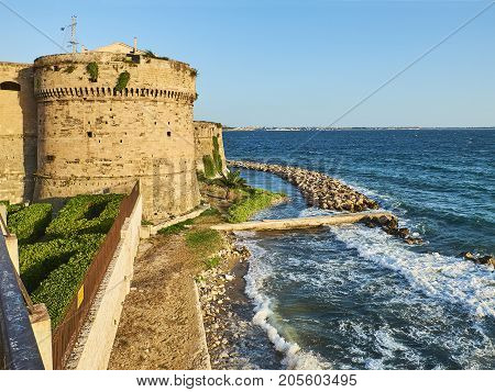 Castello Aragonese Castle Of Taranto. Apulia, Italy.
