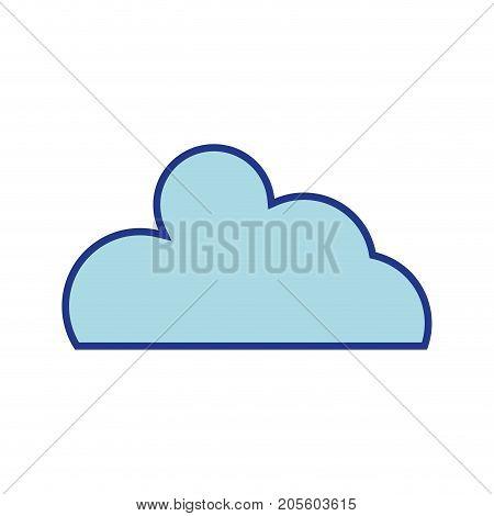 nice cloud natural weather design vector illustration