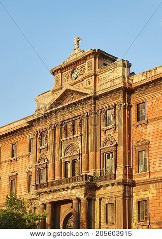 Palazzo Degli Uffizi Palace Of Taranto, Apulia, Italy.