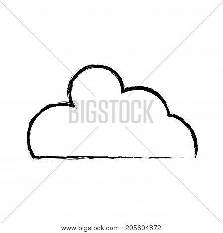 figure nice cloud natural weather design vector illustration