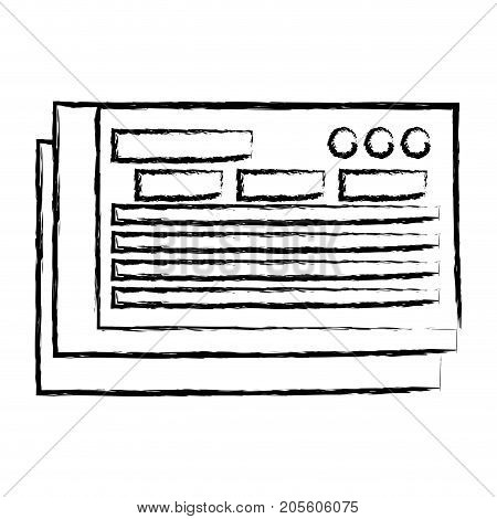 figure bank check to finance economy icon vector illustration