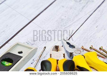 Close-up Captured Construction Tools Set