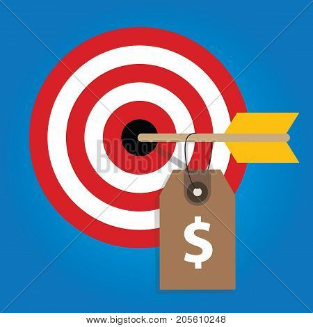 pricing strategy price tag on consumer target market financial target vector
