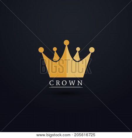 Crown logo design. Crown logo royal king. Vector stock.