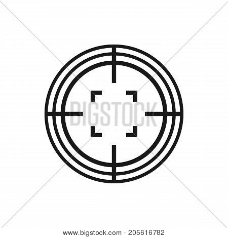 Target aim icon isolated on background. Crosshair aim. Vector stock.