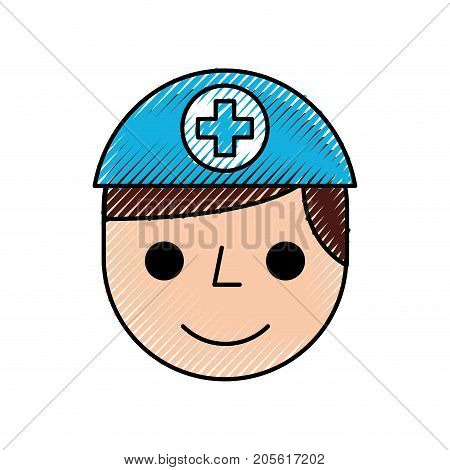nurse avatar staff clinical people profesional vector illustration