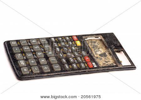 smashed calculator