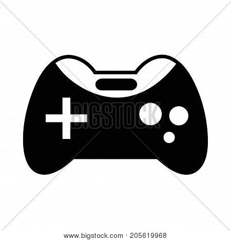 contour videogame console technology object to play vector illustration