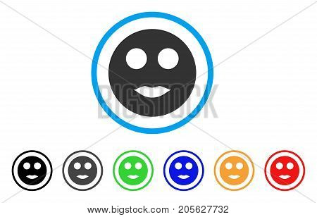 Lips Smiley icon. Vector illustration style is a flat iconic lips smiley symbol with black, gray, green, blue, red, orange color additional versions. Designed for web and software interfaces.