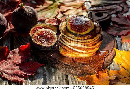 Pancakes Closeup.