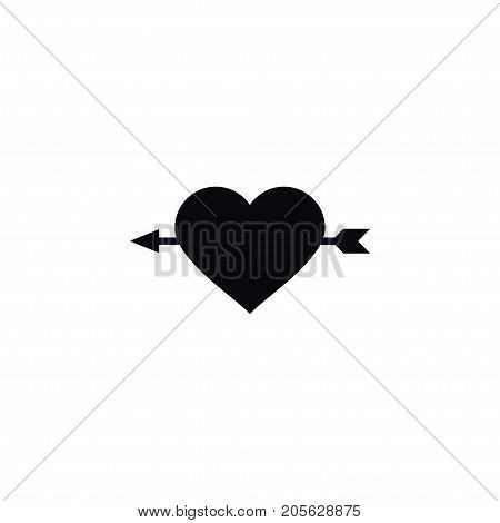 Arrow Vector Element Can Be Used For Arrow, Amour, Heart Design Concept.  Isolated Amour Icon.