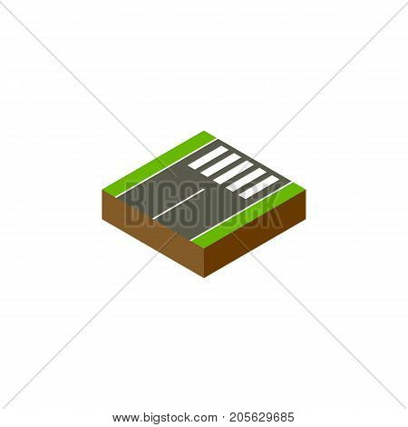 Footer Vector Element Can Be Used For Footer, Pedestrian, Road Design Concept.  Isolated Foot-Slogger Isometric.