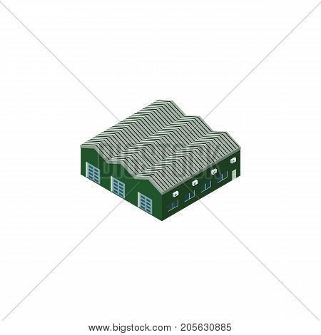 Warehouse Vector Element Can Be Used For Warehouse, Depot, Storage Design Concept.  Isolated Depot Isometric.