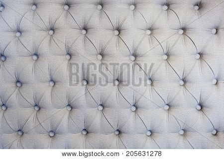 Gray soft couch seat or back textued background, copy space