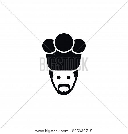 Chef Vector Element Can Be Used For Chef, Cook, Gastronomy Design Concept.  Isolated Gastronomy Icon.
