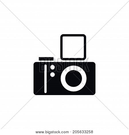 Camera Vector Element Can Be Used For Camera, Photo, Lens Design Concept.  Isolated Lens Icon.