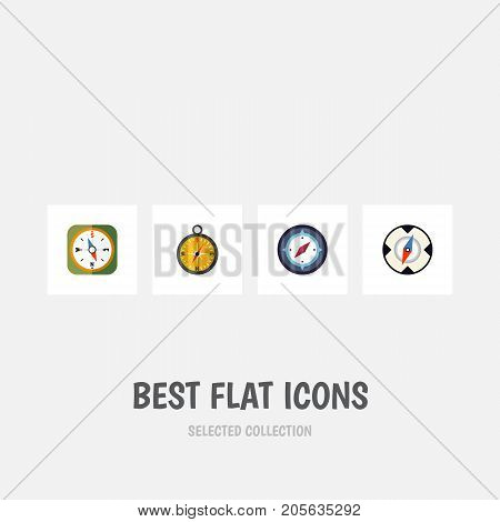 Flat Icon Orientation Set Of Navigation, Orientation, Magnet Navigator And Other Vector Objects