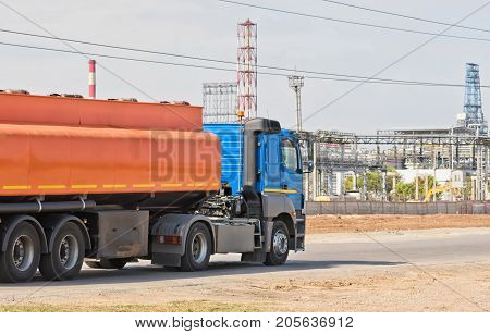 Truck With Tank For Transportation Of Petroleum Products