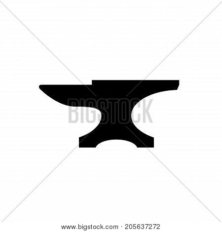 Anvil icon. Black minimalist icon isolated on white background. Anvil simple silhouette. Web site page and mobile app design vector element. poster