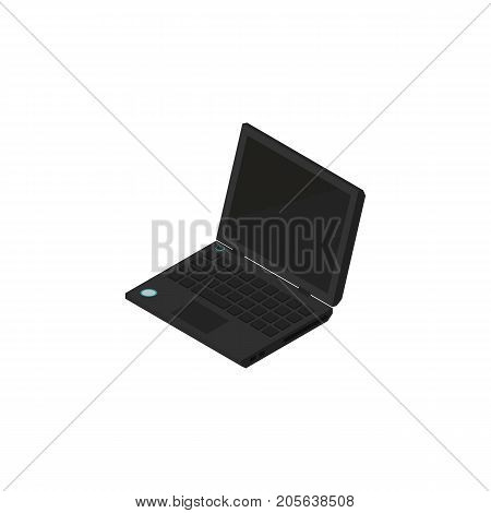 Laptop Vector Element Can Be Used For Laptop, Computer, Notebook Design Concept.  Isolated Portable Computer Isometric.