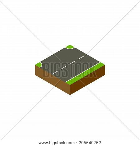 Upwards Vector Element Can Be Used For Up, Upward, Road Design Concept.  Isolated Up Isometric.