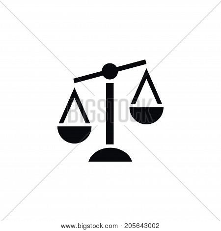 Balance Vector Element Can Be Used For Court, Balance, Scale Design Concept.  Isolated Court Icon.