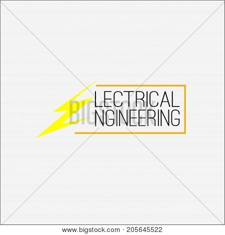 electrical engineering. vector. logo electrical engineering. Electricity and energy icon set. Vector illustration