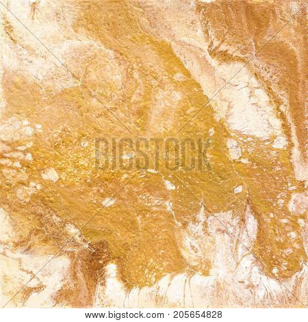 Gold marble texture. Hand draw painting with marbled texture and gold and bronze colors. Golden marble background with white colors
