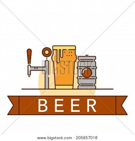 Beer Theme Illustration
