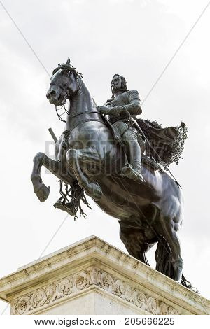 Monument To Philip Iv Of Spain In Front Of The Royal Palace – Madrid