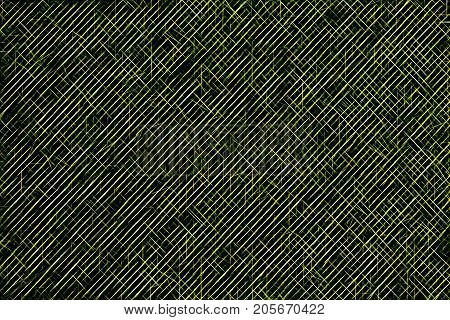 Green hatched and crossed lines. Abstract background texture. Design pattern for business card banner brochure