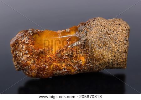 Semiprecious stone Amber the pitch connected with coniferous vegetation. It is applied in production of jewelry.